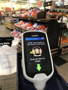 The scanner - Scan & Go Walmart