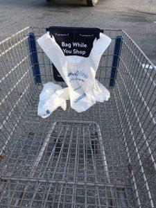 Bags in cart - Scan & Go Walmart
