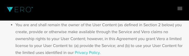 ToS Content Ownership