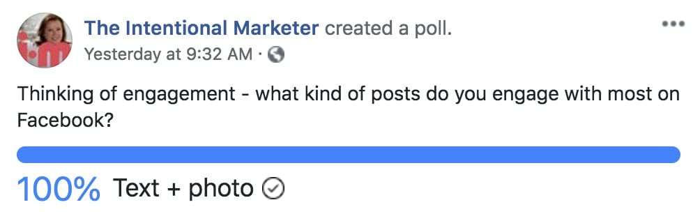 The Intentional Marketer Facebook Poll
